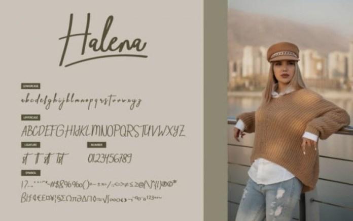 Halena Script Font