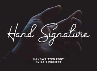 Hand Signature Script Font