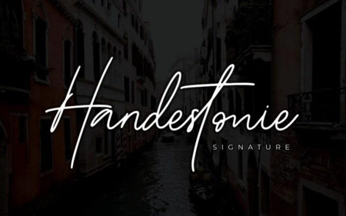 Handestonie Handwritten Font