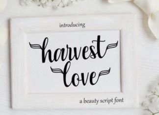 Harvest Love Script Font