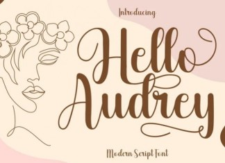 Hello Audrey Calligraphy Font