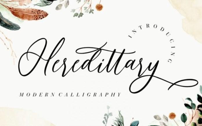 Heredittary Calligraphy Font