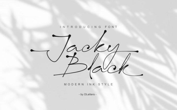 Jacky Black Trial Handwritten Font