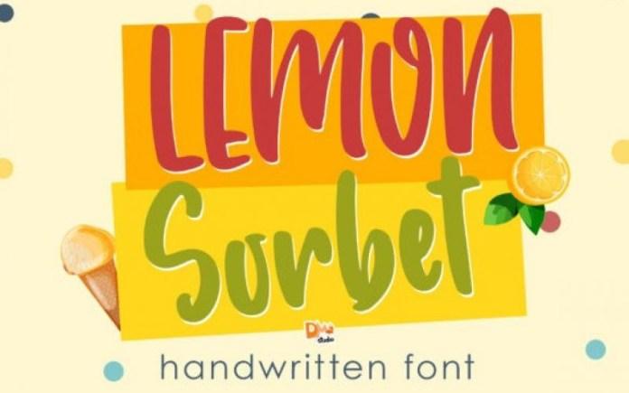 Lemon Sorbet Font