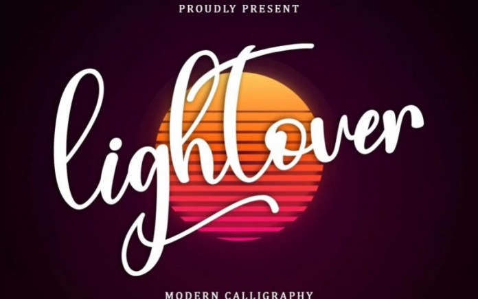 Lightover Calligraphy Font