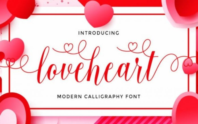 Love Heart Calligraphy Font