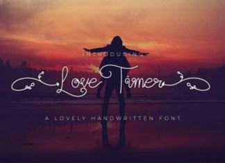 Love Timer Handwritten Font