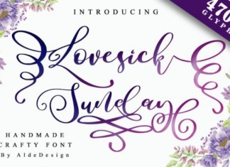 Lovesick Sunday Calligraphy Font