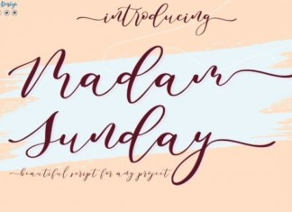 Madam Sunday Calligraphy Font