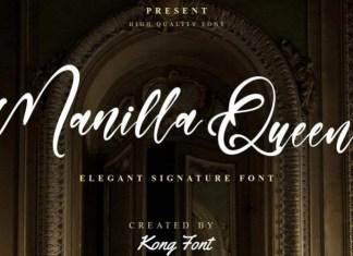 Manilla Queen Script Font