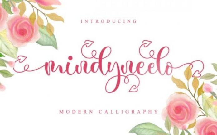 Mindyneelo Calligraphy Font