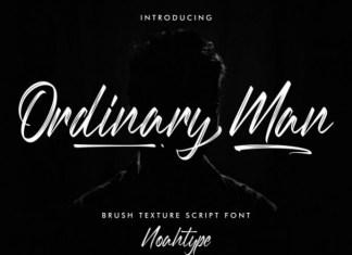 Ordinary Man Brush Font