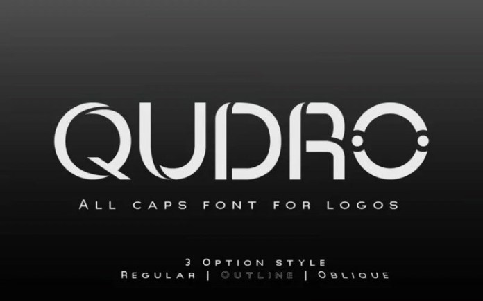 Qudro Display Font