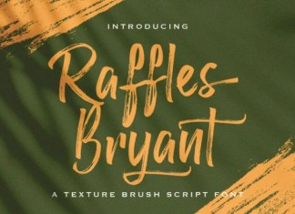 Raffles Bryant Brush Font