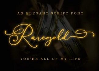 Raregold Calligraphy Font