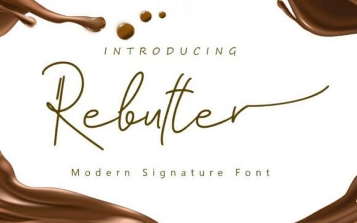 Rebutter Handwritten Font