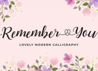 Remember You Calligraphy Font