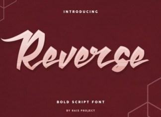 Reverse Brush Font