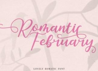 Romantic February Calligraphy Font