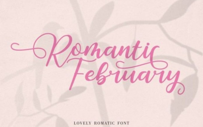Romantic February Calligraphy Font