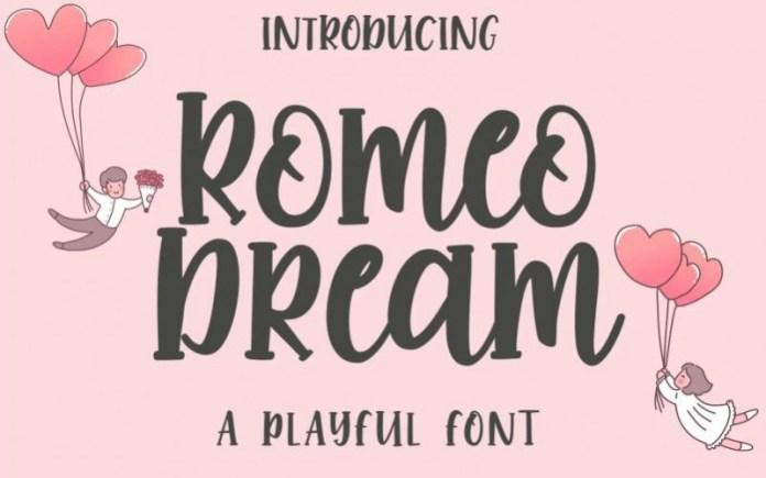 Romeo Dream Display Font