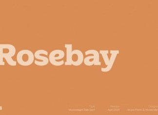 Rosebay Slab Serif Font