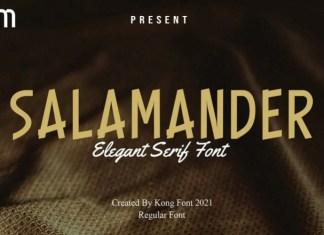 Salamander Display Font