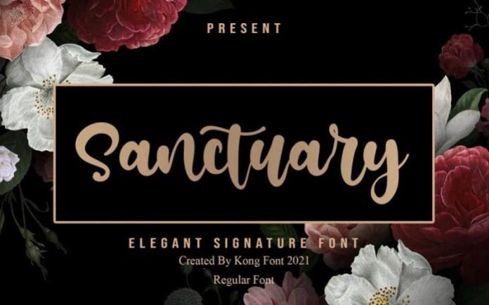 Sanctuary Script Font