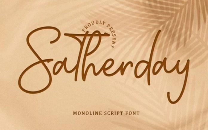 Satherday Handwritten Font