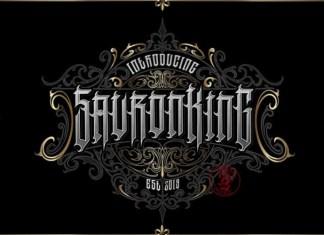SauronKing Blackletter Font