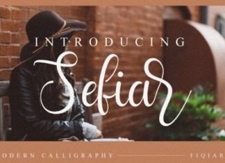 Sefia Script Font