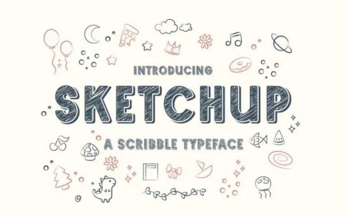 Sketchup Display Font