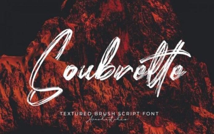 Soubrette Brush Font