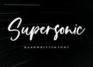 Supersonic Font