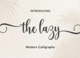 The Lazy Calligraphy Font