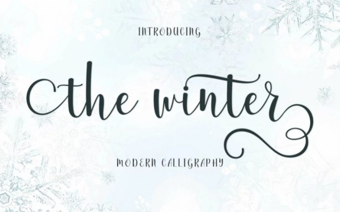 The winter Calligraphy Font
