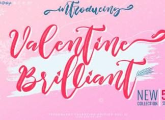 Valentine Brilliant Brush Font