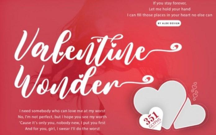 Valentine Wonder Script Font