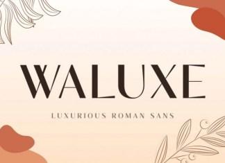 Waluxe Sans Serif Font