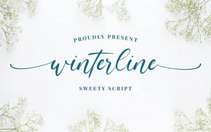 Winterline Script Font
