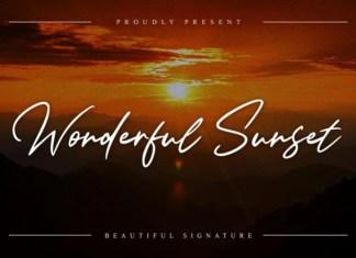 Wonderful Sunset Handwritten Font