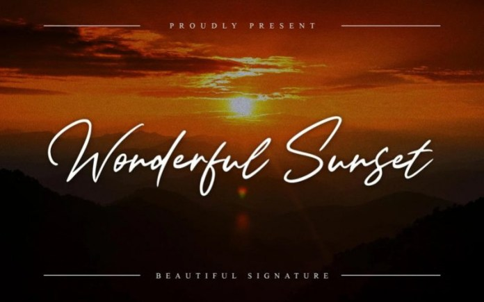 Wonderful Sunset Handwritten Font