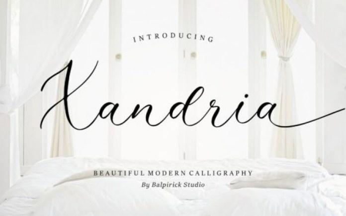 Xandria Calligraphy Font