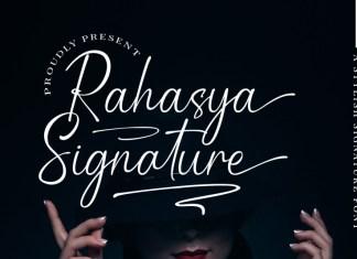 Rahasya Signature Script Font