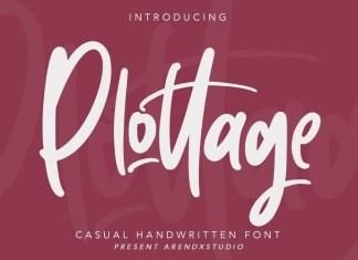Plottage Script Font