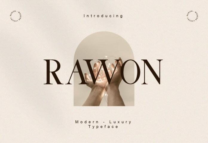 Rawon Serif Font