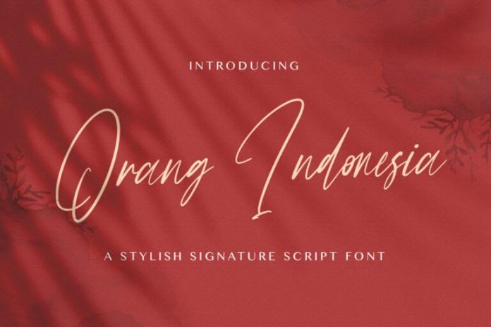Orang Indonesia Handwritten Font