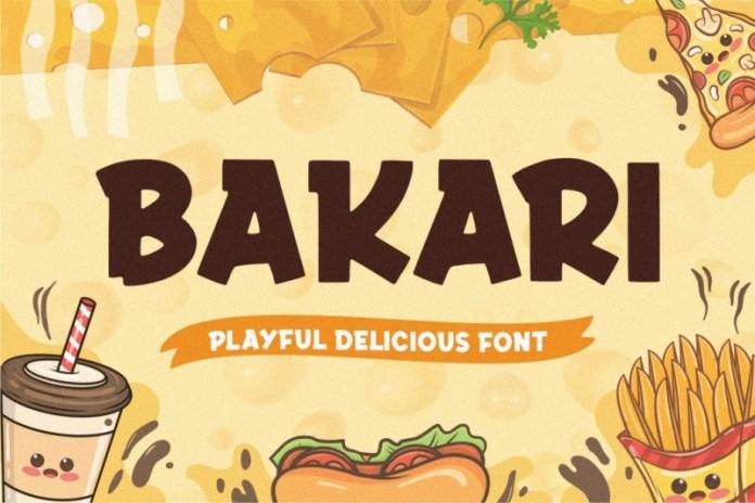 Bakari Display Font