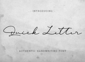 Quick Letter Handwritten Font