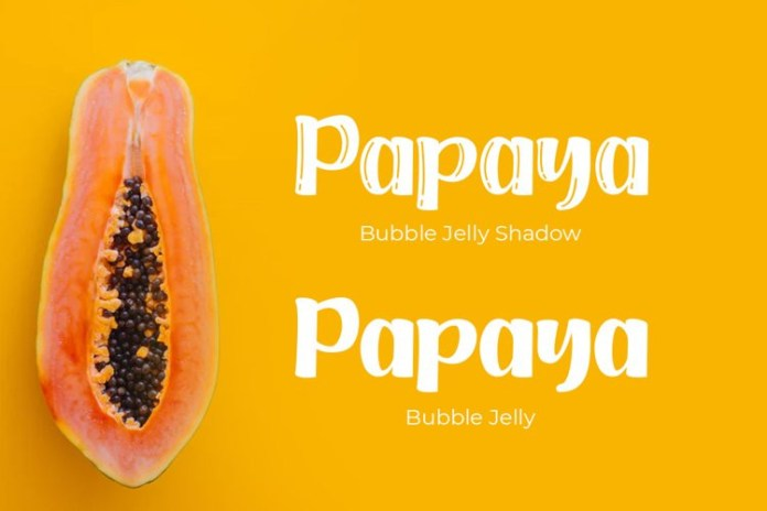 Bubble Jelly Display Font